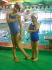 DD2's First day at swimming school
